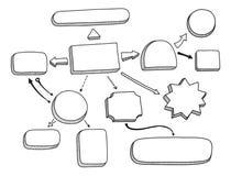 Stroomschema vectorillustratie Stock Afbeeldingen