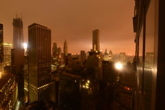 Stroomuitval de van de binnenstad van Manhattan toe te schrijven aan Zandig Stock Fotografie