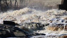 Stroomversnelling op St Louis River in Minnesota stock footage