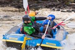 Stroomversnelling Rafting Stock Foto