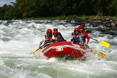 Stroomversnelling Rafting in Cagayan DE Oro Filippijnen Royalty-vrije Stock Foto