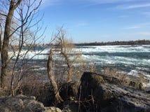 Stroomversnelling van St Lawrence River stock fotografie