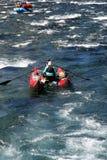 Stroomversnellingrivier Rafting Stock Foto's