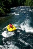 Stroomversnellingrivier Rafting Royalty-vrije Stock Afbeelding