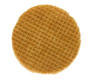 Stroopwafel isolado Imagens de Stock