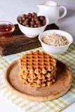 Stroopwafels/焦糖荷兰人奶蛋烘饼 库存照片