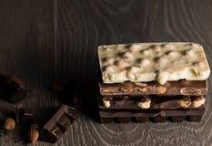 Stroopwafels o el holandés se enrolla con caramelo fotografía de archivo