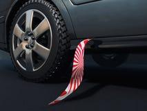 Stropdas en auto vector illustratie