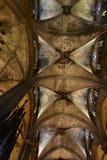 Stropować Barcelona katedra, Hiszpania Obrazy Royalty Free
