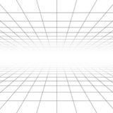 Stropować i podłogowa perspektywiczna siatki wektorowe linie, architektury wireframe ilustracji