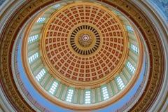 Stropować kopuła stanu Capitol Oklahoma w Oklahoma City, OK obrazy stock