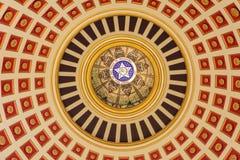 Stropować kopuła stanu Capitol Oklahoma w Oklahoma City, OK zdjęcie stock