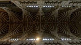 Stropować Nave w Exeter katedrze obraz royalty free