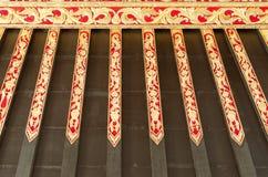 Stropować z pięknym ornamentem w Yogyakarta sułtanata pałac Zdjęcia Royalty Free