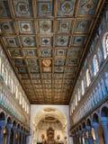 Stropować nave Catherdal Sant Apollinare Nuovo Zdjęcie Royalty Free