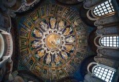 Stropować neoniano baptysterium w Ravenna Obrazy Royalty Free