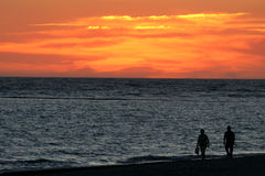 strosa solnedgången Royaltyfria Bilder