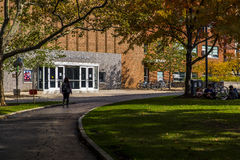Strosacker salong - västra reservuniversitet för fall - Cleveland, Ohio arkivfoto