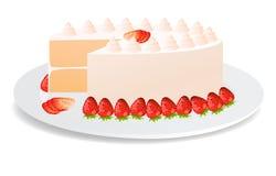 strowberry的蛋糕 免版税图库摄影