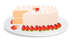 Strowberry cake Royalty Free Stock Photography