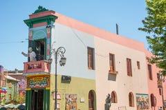 Strreet von Caminito im Bezirk Boca von Buenos Aires Stockbild