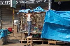 Strret供营商在加尔各答,印度 免版税库存照片