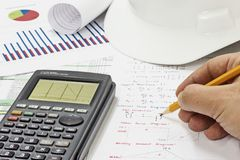 Structural Analysis Calculations royalty free stock photos