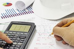 Structural Analysis Calculations Royalty Free Stock Photo