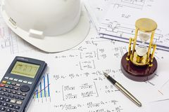 Structural Analysis Calculations Royalty Free Stock Image