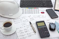 Structural Analysis Calculations Royalty Free Stock Photography