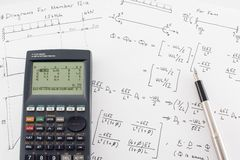 Structural Analysis Calculations Stock Image
