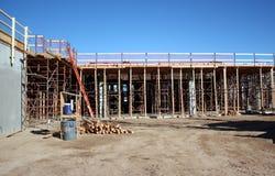 Structural concrete shoring system Stock Photos