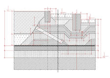 Structural drawing Royalty Free Stock Photography