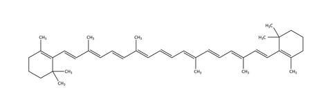 Structural formula of beta-carotene Stock Photo