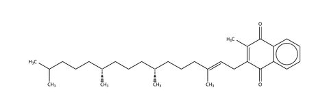 Structural formula of vitamin K1 (phylloquinone) Royalty Free Stock Images