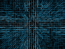 Structural Imagery. Blue on black Royalty Free Stock Image