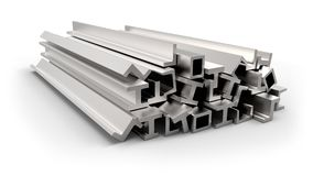 Structural metal shapes Royalty Free Stock Photo