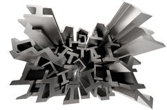 Structural metal shapes Royalty Free Stock Image