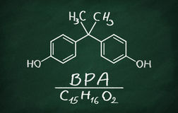 Structural model of BPA (bisphenol) Royalty Free Stock Images