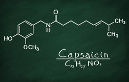 Structural model of Capsaicin Stock Images
