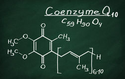 Structural model of Coenzyme Q10 Stock Photo