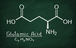 Structural model of Glutamic Acid Royalty Free Stock Photos