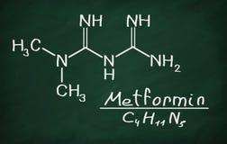 Structural model of Metformin stock illustration