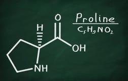 Structural model of Proline stock illustration