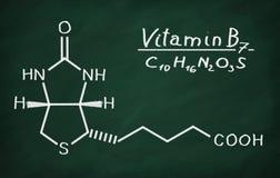 Structural model of Vitamin B6 Biotin Royalty Free Stock Photo