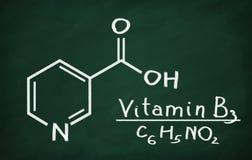 Structural model of Vitamin B3 (Niacin) Stock Photo