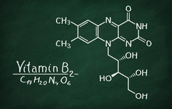 Structural model of Vitamin B2 Riboflavin Royalty Free Stock Photography
