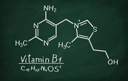 Structural model of Vitamin B1 Thiamine Stock Images