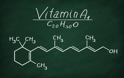 Structural model of Vitamin A1 Royalty Free Stock Photos