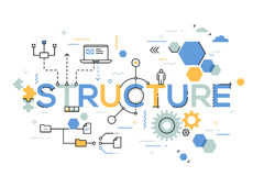 Structural organization of business process, arranging structure and planning concept Royalty Free Stock Photography